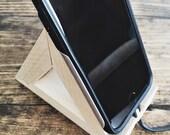 Wooden Delta Phone Stand
