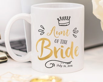 Aunt of the Bride mug, customized Aunt of the Bride gift