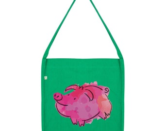 Ink Splat Pig Tote Bag