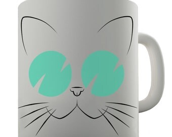 Cat Wearing Sunglasses Ceramic Tea Mug