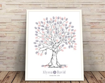 purple finger print tree, wedding guest book alternative, wedding tree,  guestbook ideas, Wedding Trees, finger print tree, wedding guest