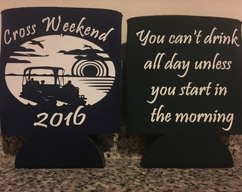 Personalized Koozies, Custom Koozie, Weddings, Bachelor, Bachelorette, Birthday Parties, Vacation, Baby Announcements and more