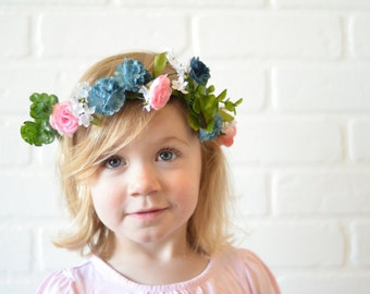 Blue Raspberry Flower Crown