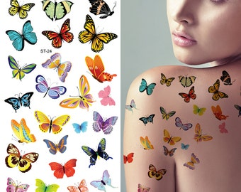 Supperb® Temporary Tattoos - Lots of Butterflies