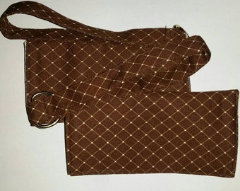 Cocoa Diamond Wristlet Wallet