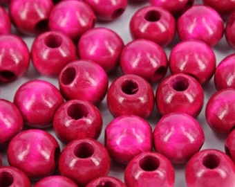 Pink Wooden Beads 20mm