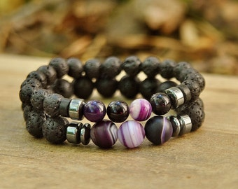 His and Her Bracelets Couples Jewelry Gifts For Couples Bracelets Boyfriend Gifts For Him Anniversary Gifts For Her Valentines Day Gifts