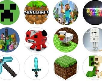 """Minecraft 1"""" Bottle Cap Images Digital Download"""