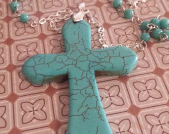 stone cross necklace
