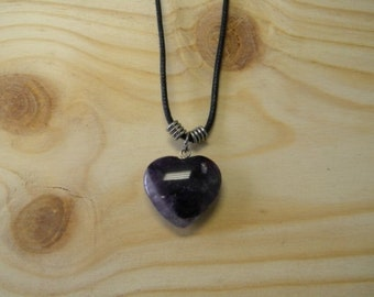 """Women Amethyst Heart Pendant Necklace  18"""" inches"""