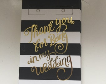 Bridemaid earring holder Thank you for being in my wedding