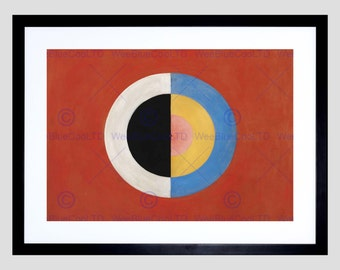 Painting Hilma Af Klint Svanen Abstract Circles Art Print Poster Picture FEHP375