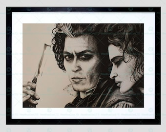 Sweeny Todd Johnny Depp Framed Art Print By W.Maguire F12X10617