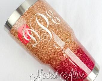 Glitter YETI Tumbler 30 Oz / YETI Tumbler Personalized/ Customized YETI