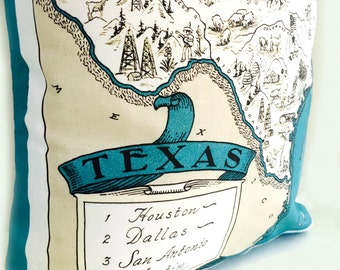 Texas State Pillow Cover with Insert