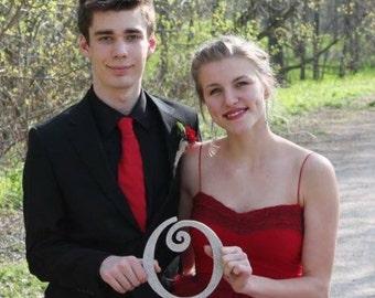 Handmade Red Tulle Prom Dress