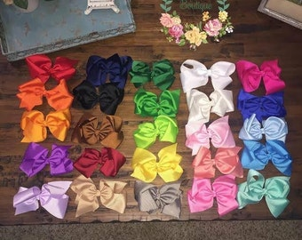 """5"""" bows with alligator clip"""