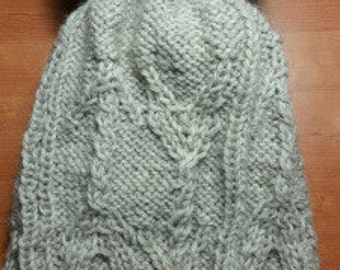 Slouchy Arrow Cable Hat