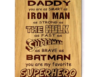 Father's day gift Cutting Board Gift for father Fathers day gift Engraved Personalized Birthday Gift for him Gift for Dad Christmas gift