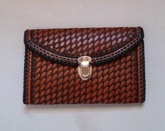 handmade leather clutch purse