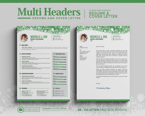 gridride   cv template instant download   multi
