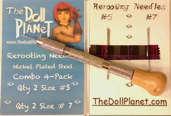 Doll Hair Rerooting Tool Kit  with 4 Needles for Rerooting Rehairing Doll and My Little Pony Intl Ship