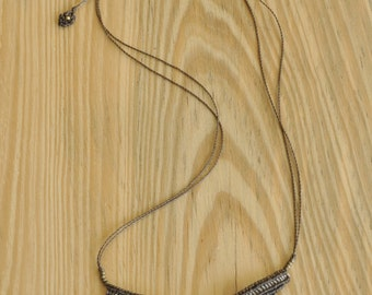Handmade macrame necklace with adjustable length