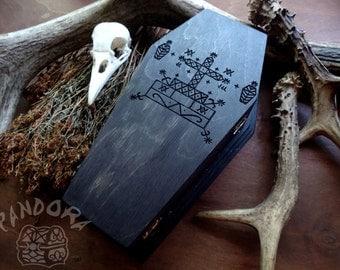 Box casket, Veve Baron Samedi