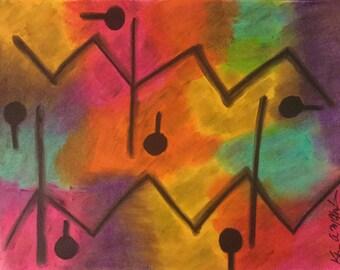 Abstract Pastel Drawing
