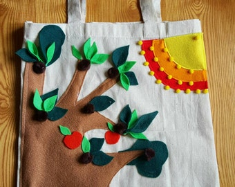 Forest scene cotton bag