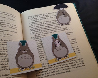 Magnetic bookmarks - Totoro