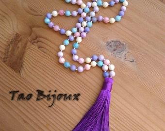 Agate Effloresce Mala Necklace
