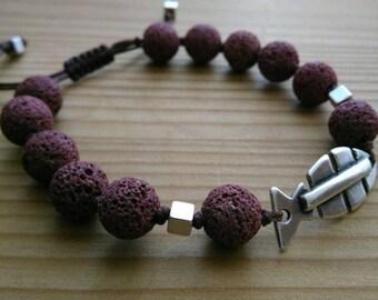 Lava Fish Bracelet