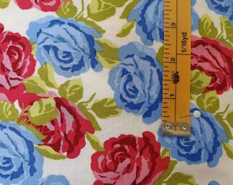 Penny Rose Fabric, Olivia, Emily Hayes, Cream, C4241, quilting fabric