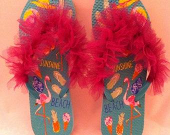 Fun summer flip flops