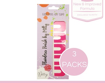 Nail tape, Easy peel off, perfect mani, Flawless finish, LATEX FREE (Ballet Slipper Pink)