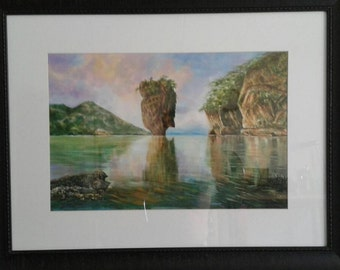 Painting watercolor Khao Phing Kan.