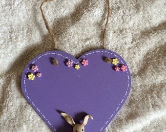 Purple Heart with fimo