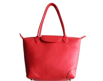 BAG LOLITA red leather