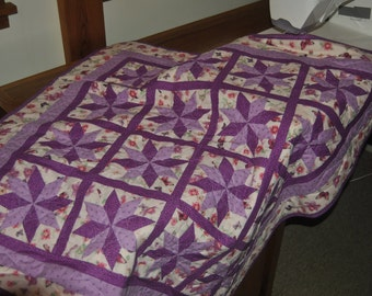 Pieced - Quilted lap throw/Baby quilt