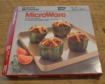 Microware Baking Sheet, Anchor Hocking, Microwave Cooking, Baking Sheet, Oven Safe, Dishwasher Safe, 12 by 12 baking sheet