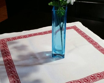 Red Eastern European Tablecloth