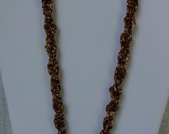 African Beaded Necklace - Multi-Brown