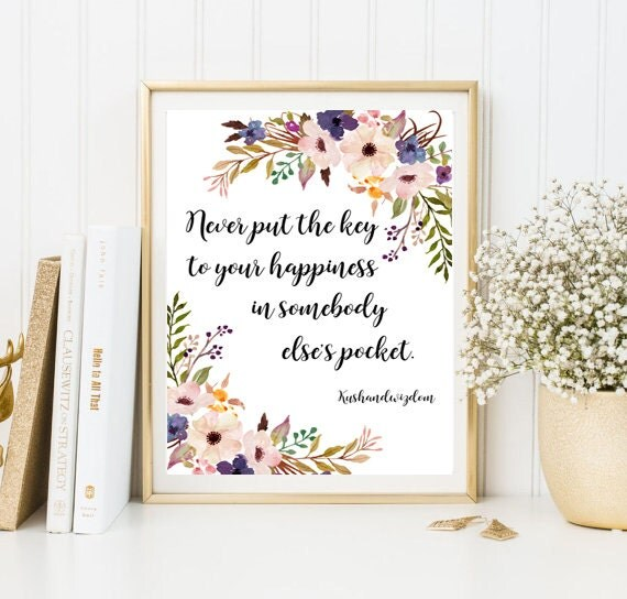 Quote print calligraphy print framed quotes friend gift for Home interiors and gifts framed art