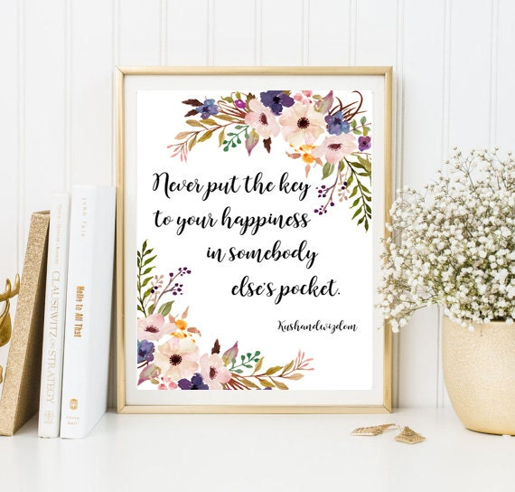 Wall Decor Framed Quotes : Quote print calligraphy framed quotes friend gift