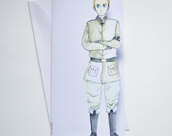 Germany - Hetalia Handmade Greetings Card - Happy Birthday - Well Done - Thank You - Friend Card - Blank
