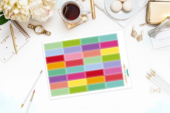 Blank Labels   Planner Stickers, Functional Stickers for Planners, Blank Stickers, Everyday Planner Stickers