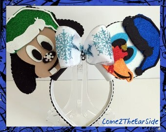 Goofy Donald Duck Christmas Mickey Ear Christmas Disney Ear Christmas Minnie Ear  Boy Girl Mouse Ears
