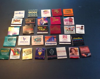 30 Vintage Matchbooks From Casino and Hotels
