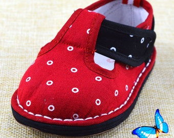 2016 girl kid handmade shoes health clothes red soft Chinese folk homesuit asia autumn warm nice kawii pretty great mary-jane canvia